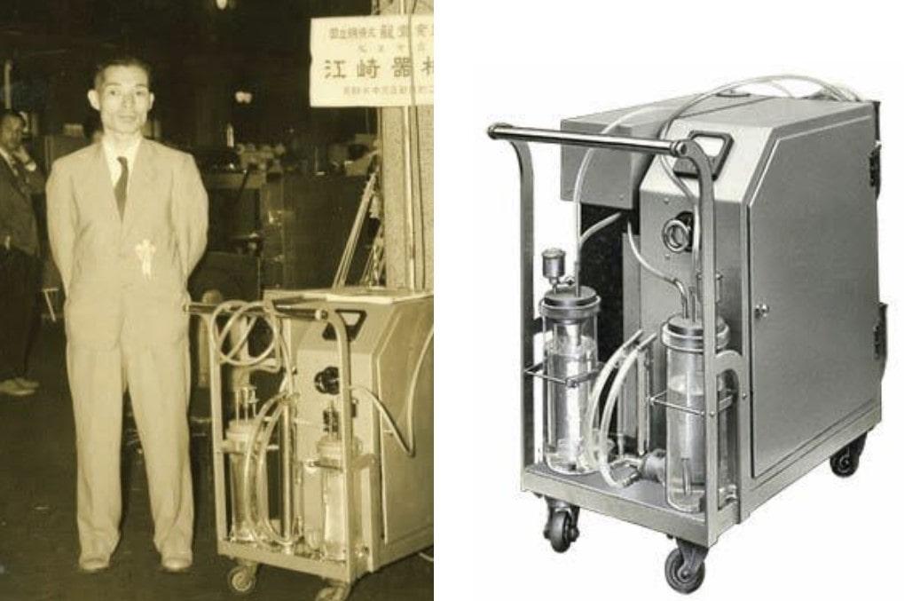 江﨑清四郎と酸素発生装置の画像
