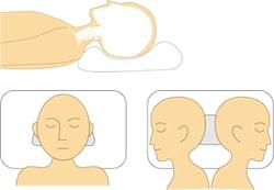 横向き寝でも頚椎を適切なカーブに支える
